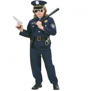 Police Officer Polizist Polizei Kinder Kostüm - NEU Jungen Karneval Fasching