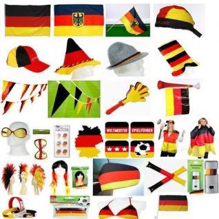 Deutschland Fan Artikel Dekoration Party WM + EM Riesenauswahl