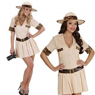 SAFARI GIRL sexy Damen Kostüm Gr. L 42/44 - Damen Kleid Dschungel Jägerin # 7470