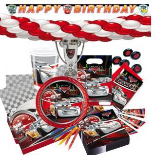 Cars2 Mc.Queen Kindergeburtstag Motto Kinderparty Deko Set Geburtstag