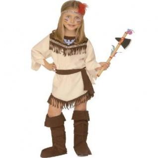 Kinder KOSTÜM INDIANERIN Gr.116 Cowboy Western Mädchen Fasching S4378