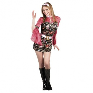 Damen Kostüm M (40-42) Sexy Party Chick 70er 80er Karneval Schlagermove 83620