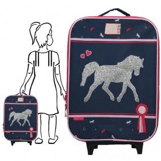 Koffer Trolley Einhorn Pferd Kinderkoffer Handgepäck Kindertrolley Mädchen #0016