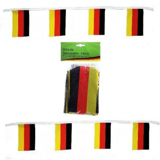 7 Meter Fahnen Girlande 18 Flaggen 14x21cm Deutschland Fan Artikel Deko Party