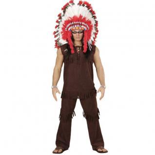 Herren Kostüm INDIANER HÄUPTLING Gr. S (48) - Apache Fasching Karneval # 5900