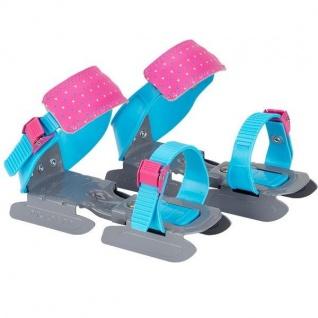 Nijdam Junior Verstellbare Gleitschuhe 24-34 Schlittschuhe Blau/Rosa #3005BRG