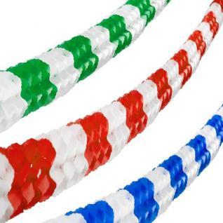 6m Papier Girlande 16cm x 16cm rot-weiss, blau-weiß oder grün-weiß Party Deko