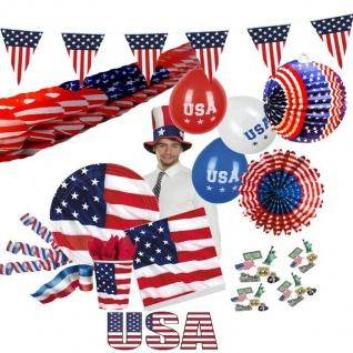 USA+Amerika Stars & Stripes Geschirr Party Deko US Mottoparty Amerikaparty