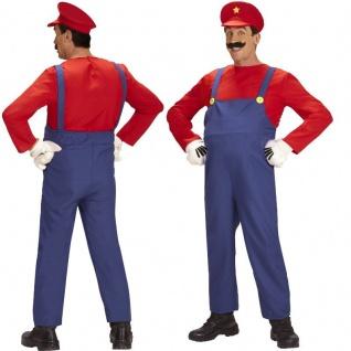 Klempner Mario Super Mario Bros. Herren Kostüm oder Bierbauch, Comic Handschuhe