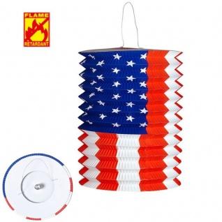 USA ZUGLATERNE Ø 16cm Party Deko Artikel - Laterne Lampion -