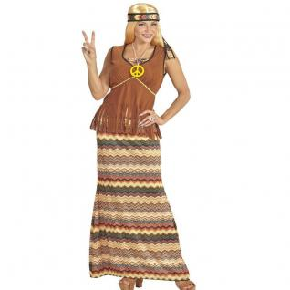HIPPIE WOMEN 60's 70's Damen Kostüm 42/44 (L) Flower Rock mit Weste #6533