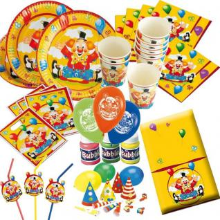 LUSTIGER CLOWN Kinder Geburtstag Party Deko - MEGA AUSWAHL - Zirkus Karneval