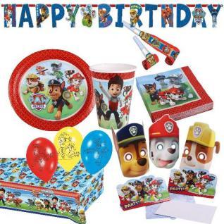 PAW PATROL - Alles zum Kindergeburtstag - Geburtstag Kinder Party Deko Hund