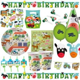 BAUERNHOF Farm und Tiere - Kinder Geburstag Party Deko - Riesen Auswahl -