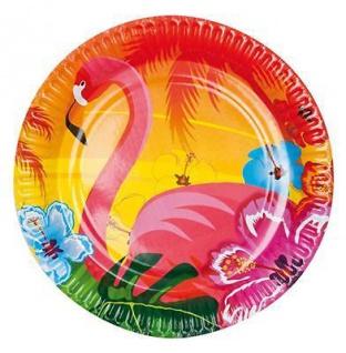 6 Stück Hawaii Party Teller Geschirr Pappteller Zubehör Strandparty