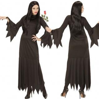Mortisia Hexe Damen Kostüm Kleid - Zauberin Addams Dark Gothic Gr. S - XL NEU