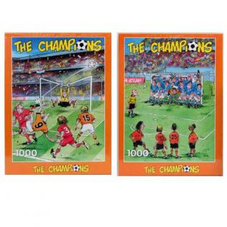 2 X Erwachsenen Puzzle 1000 Teile Sport Fun Motive Fußball Comic NEU/OVP