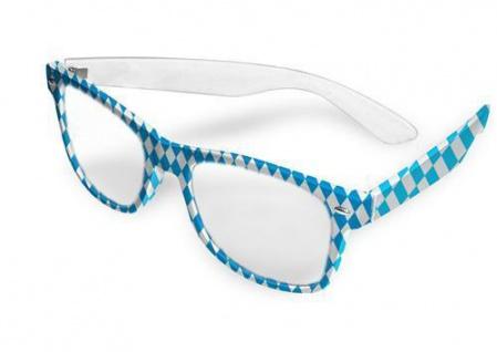 BAYRISCHE RAUTE Brille mit Glas Oktoberfest Brille Wies'n Bayern Party Deko