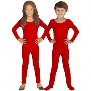 Einteiler Kinder Body Overall Jumpsuit lang Sport rot Langarm Kostüm 116-152