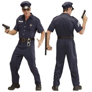 Polizist Polizei Kostüm Herren Gr. L (50/52) Karneval Fasching Verkleidung #4425