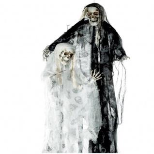 SENSENMANN 120CM Hängefigur Tod Deko Halloween Horror Grusel Geist Skull AUSWAHL