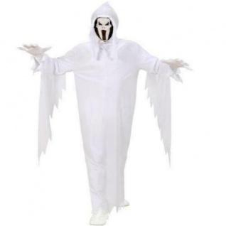 Geist Kinder Geister Kostüm weiß mit Maske Gr 128 Scream Halloween Karneval