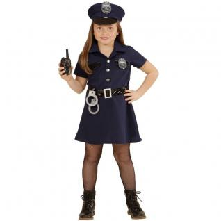 5tlg POLIZISTIN Mädchen Kinder Kostüm Gr.128 Uniform Cop Karneval Fasching #4908