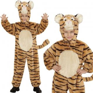 TIGER Kinder Kostüm 98cm 1-2 Jahre Plüsch Overall Tierkostüm Tigerkostüm #8111