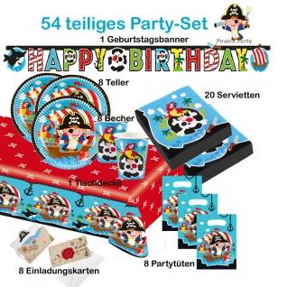 Piraten Seeräuber Set 54 tlg.Party KINDER GEBURTSTAG Teller Becher Servietten
