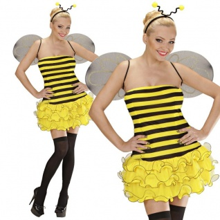 SEXY BIENE Damen Kostüm Gr. S (38/40) Bienchen Tierwelt - Karneval Fasching