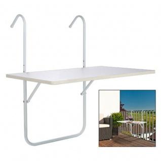 BALKONTISCH 60 x 39.5 cm klappbar Tisch Beistelltisch Campingtisch Klapptisch