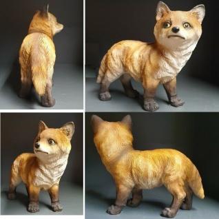 FUCHS Fox stehend Wald Wild Figur Haus & Garten Deko lebensecht Polyresin #8959