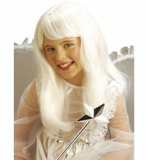 KINDER ENGEL PERÜCKE weiß Christkind Langhaarperücke Mädchen Kostüm 6270