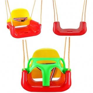 3 in1 Kinder Schaukel mit Kippschutz + Gurt, Babyschaukel Kinderschaukel #8765