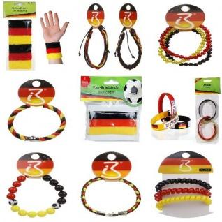 Armbänder + Schweißbänder Deutschland Fan Artikel Dekoration Party WM+EM Auswahl