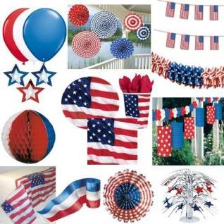 USA Amerika - Stars & Stripes - PARTY DEKO Teller Becher Servietten Ballons