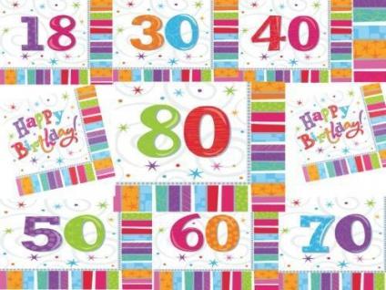18 30 40 50 60 70 80 Geburtstag Deko Sevietten Tischdeko Party Jubiläum