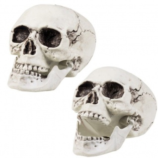Totenschädel mit beweglichem Kiefer 20x15cm groß Totenkopf Halloween Party Deko