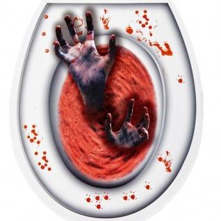 BLUTIGE ZOMBIE-HÄNDE Halloween Toiletten Deckel Sticker WC-Deckel Aufkleber #809