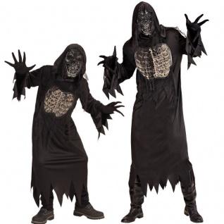 DÄMON Geist Zombie Horror PARTNER Kostüm Erwachsene Kinder Jugendliche Halloween