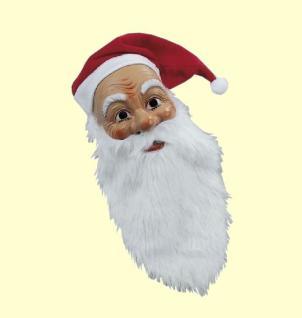 Nikolausmaske - Lieber Weihnachtsmann Maske - mit Mütze und Bart Nikolaus #055
