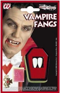 VAMPIR ZÄHNE ECKZÄHNE Halloween Kostüm Vampir Dracula 4097