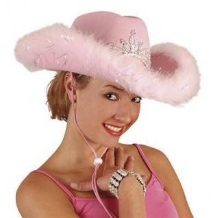 Hut Cowgirl Cowboy Prinzessin rosa Cowboyhut Hüte Karneval Fasching