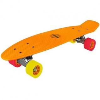 Nijdam® Retro Skateboard Orange Komplett Board Penny Minicruiser Mini Cruiser NF