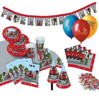 FEUERWEHR - FETE Kinder Geburtstag Party Deko Motto Party