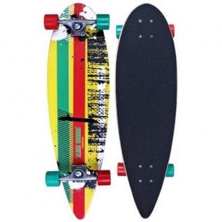 "Rasta Longboard 39"" Nijdam Skateboard das perfekte Board zum Cruisen"