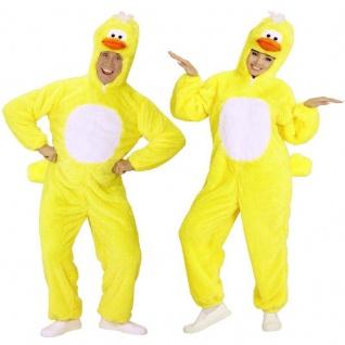 ENTE Plüsch Tierkostüm für Damen und Herren für Karneval / Fasching Ostern
