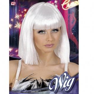 Weiße Damen Perücke Showgirl Tanzperücke Kostüm Karneval Fasching #6381