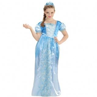 Kinder Kostüm Kleid + Tiara Elsa Mädchen Eiskönigin Schneekönigin Eis-Prinzessin
