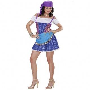 Sexy Zigeunerin Kleid Gr. M (38/40) Damen Kostum Gypsy Piratin Wahrsagerin #6732